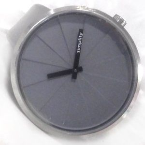 Simplify Watch Gray Dial Band It Is Your Time 43mm